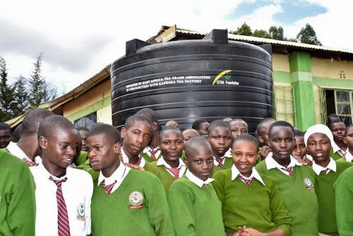 Kapsara Tea Factory Water Tank Donation – Milima Secodary School
