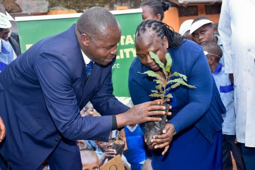 Theta Tea Factory - Tree planting and water tank donation