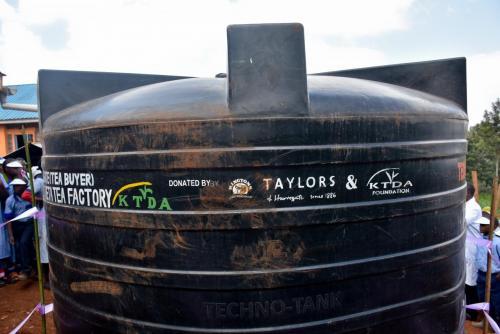 Theta Tea Factory - Tree planting and water tank donation