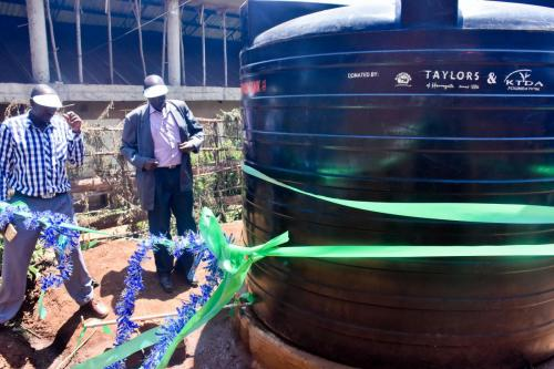 Nyankoba Tea Factory - Tree planting and water tank donation